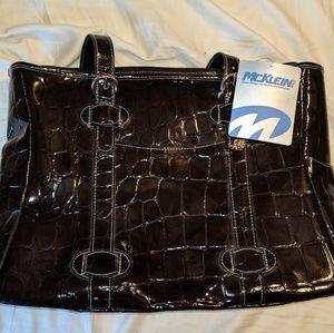 NWT Mcklein Emanuel leather laptop bag